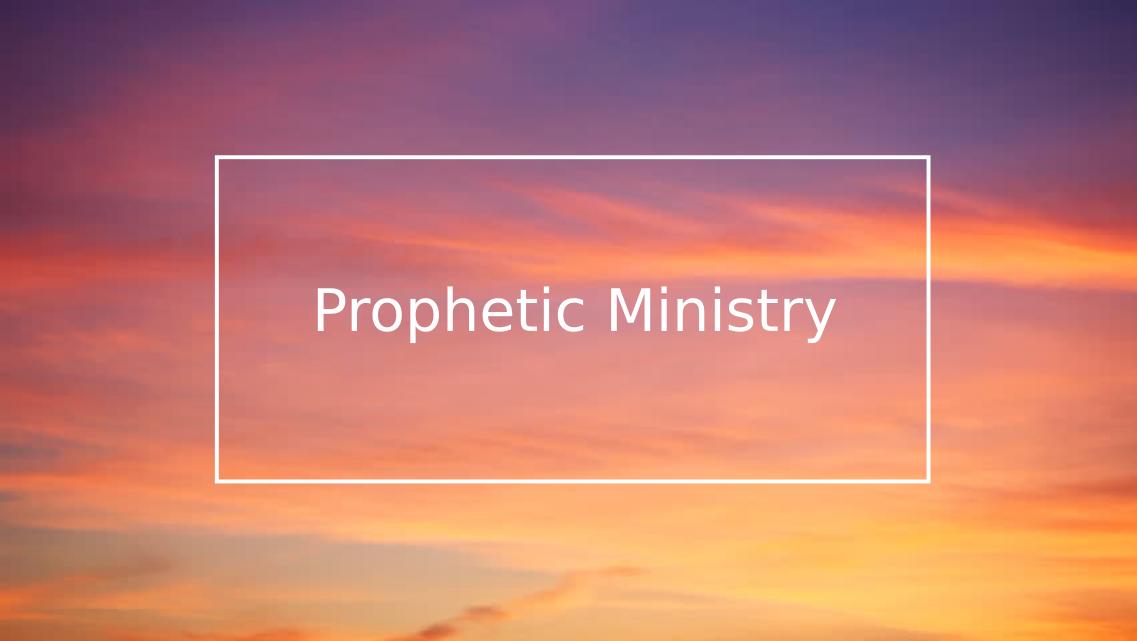 Prophetic Ministry – Catholic Charismatic Renewal, Ghana